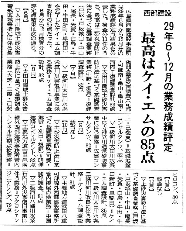 中建日報に掲載 平成30年1月18日